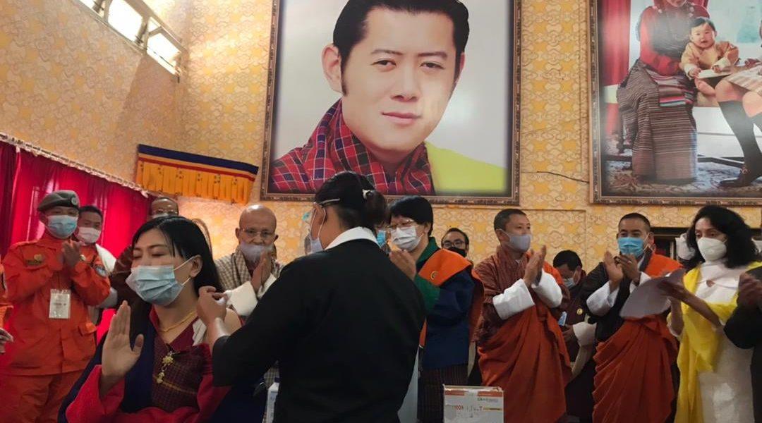 Bhutan Nationwide covid-19 vaccination